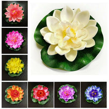 Load image into Gallery viewer, 10Pcs Artificial Fake Lotus-Leaf Flowers Water Lily Floating Pool Plants Decors