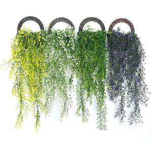 Artificial Fake Hanging Flower Vine Plant Wedding Indoor Decor Garden E7P0