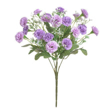 Load image into Gallery viewer, 20 Flowers Hydrangea Fake Silk Flower Home Party Garden Flowers Small Lilac B7N8