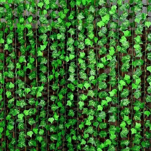 6.5ft Artificial Ivy Vine Leaf Garland Green Rattan Plants Fake Foliage Flowers