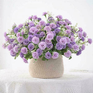 20 Flowers Hydrangea Fake Silk Flower Home Party Garden Flowers Small Lilac B7N8