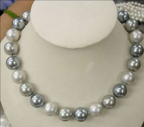 8mm Multicolor south sea shell pearl necklace 18