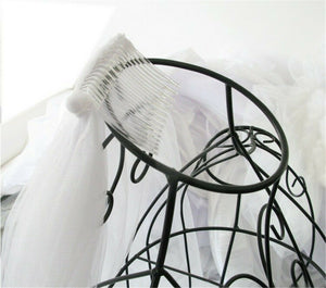US 3M Ivory White Cathedral Length Lace Edge Bride Wedding Bridal Long Veil+Comb