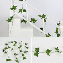 Load image into Gallery viewer, 6.5ft Artificial Ivy Vine Leaf Garland Green Rattan Plants Fake Foliage Flowers