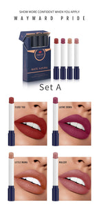 Fashion 4 Colors Velvet matte Cigarette Lipstick makeup Long Lasting lipstick set make up nude lipstick maquiagem batom TSLM1 - Fresh Deals Shop