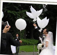 Load image into Gallery viewer, Wedding Decoration White Dove Balloon White Wedding Balloons Eco-Friendly Biodegradable Helium Balloons Party Favors 10pcs/lot