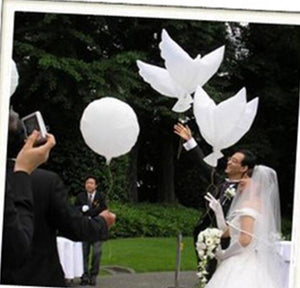Wedding Decoration White Dove Balloon White Wedding Balloons Eco-Friendly Biodegradable Helium Balloons Party Favors 10pcs/lot