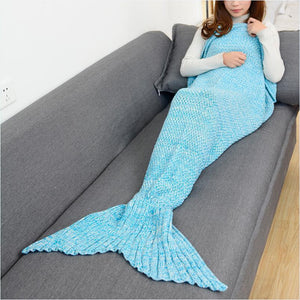 Soft Knitted Mermaid Tail Blanket