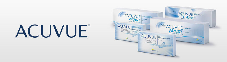 ACUVUE contact lenses collection header