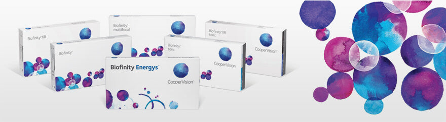 Biofinity contact lenses collection header