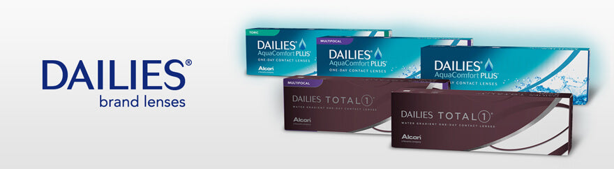 DAILIES contact lenses collection header