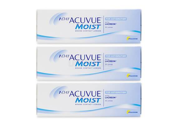 1-DAY ACUVUE MOIST for ASTIGMATISM 3x30 lentile de contact