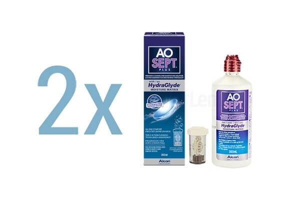 AOSept Plus with HydraGlyde 2x360 ml