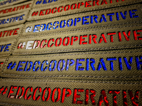 #edccooperative patch - red and blue