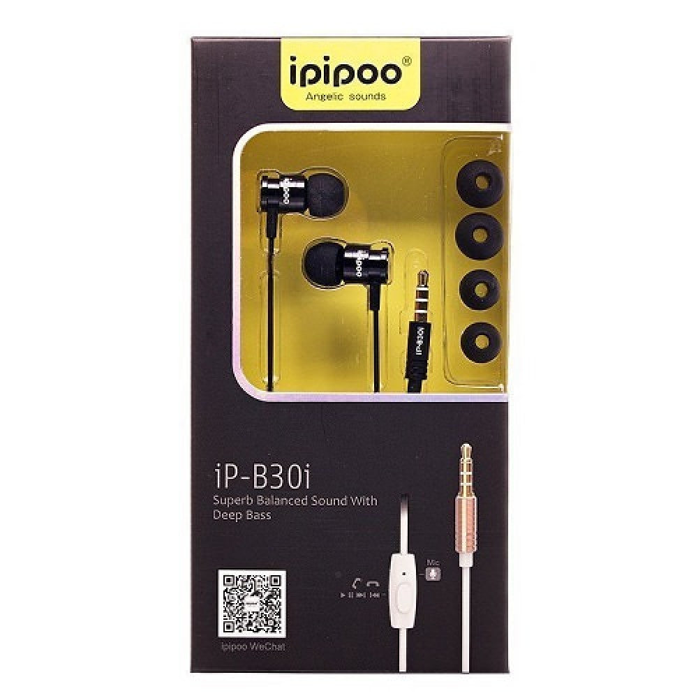 Audifonos ipipoo iP - B30i IntraAuditivos Dinamicos