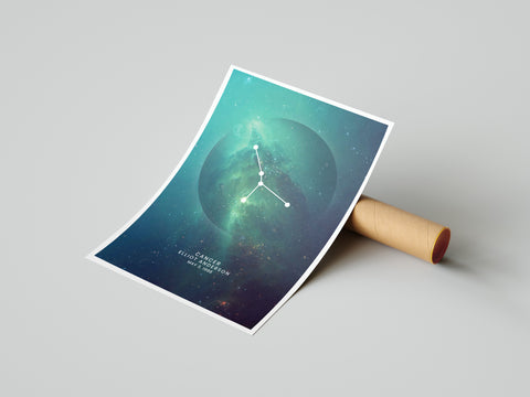 The original Zodiac Personalized Print Art