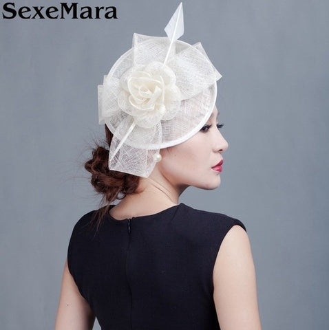 Beckyruiwu Bridal Wedding Sinamay Fascinator Philippines Sinamay Fedora Hat Race Derby Grace Headpiece Church Hair Accessories