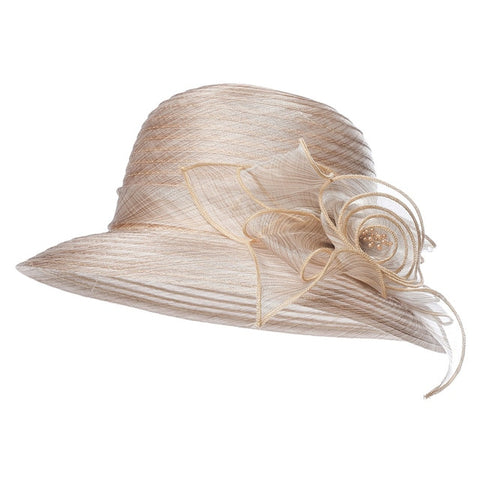 Kajeer Fashion Fedoras Women Mesh Church Hat With Floral Summer Wide Brim Cap Wedding Party Hats Beach Sun Protection Derby Caps