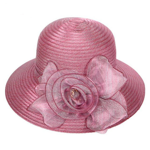 Chapeau Femme Mariage Fedoras Hat Women Church Fascinator Floral Cloche Bow Bucket Wedding Bowler Derby Wide Brim Beach Sun Hats