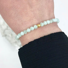 Load image into Gallery viewer, Dainty Hope Bracelet | Green Moonstone