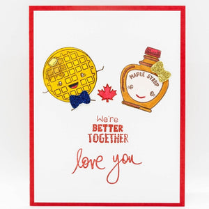 Waffle and Maple Syrup Love Card