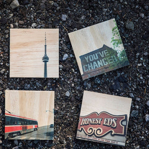 Honest Eds Wood Coaster Set