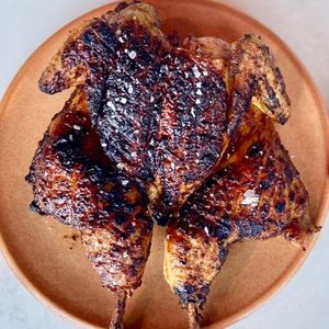 Marinated Spatchcock Chicken - Cooked