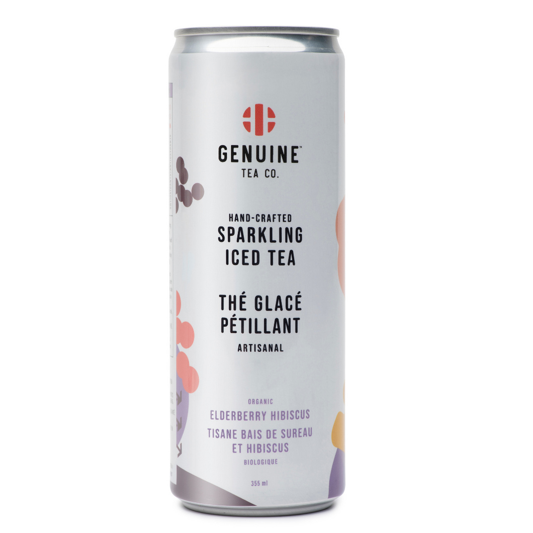 Sparkling Ice Tea - Organic Elderberry Hibiscus 12-Pack