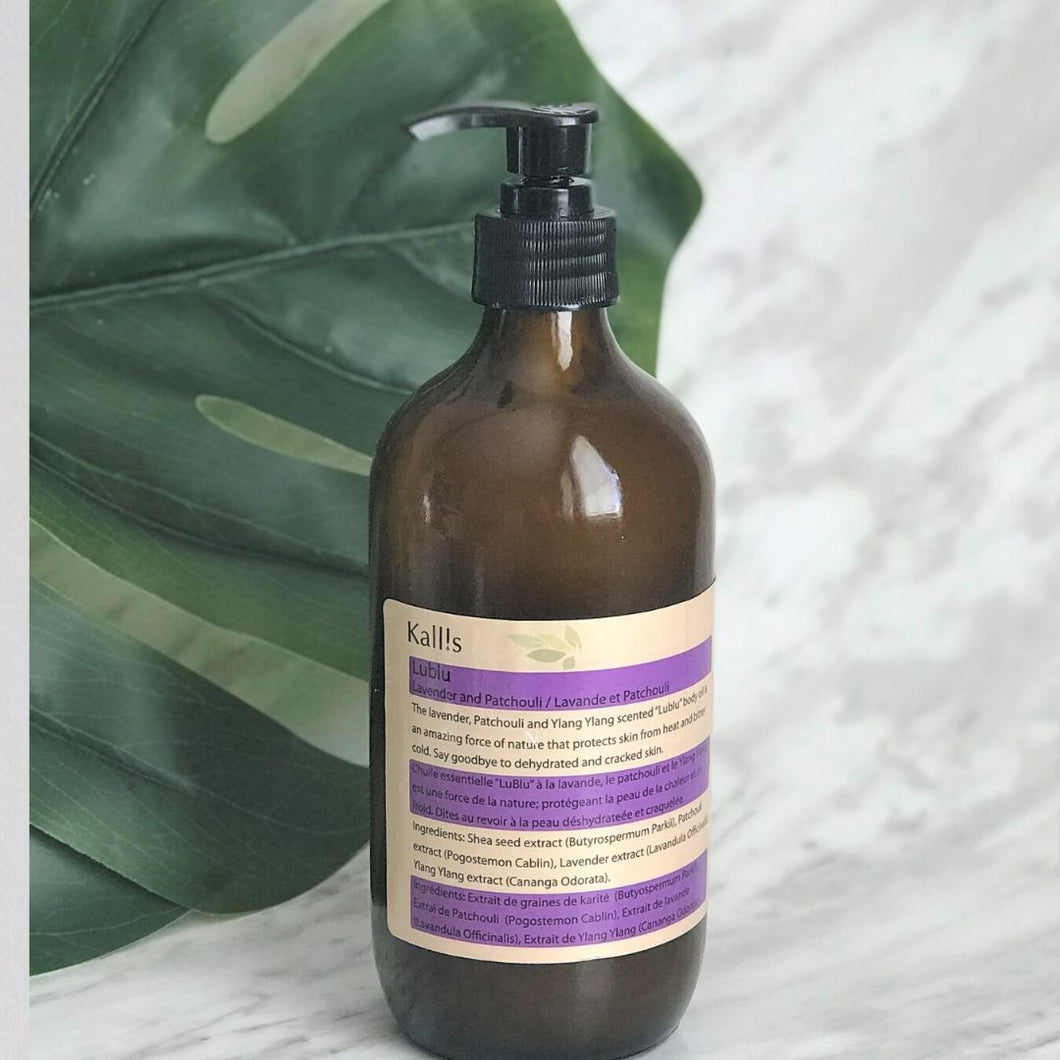 Lavender, Patchouli + Ylang Ylang Shea Body Oil