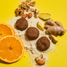 Load image into Gallery viewer, Ginger Orange Superfood Snack Bites