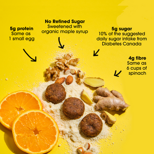 Ginger Orange Superfood Snack Bites