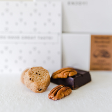 Load image into Gallery viewer, Mini Shortbread Cookies - Dark Chocolate With Toffee & Pecan (Box)