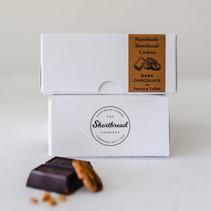 Mini Shortbread Cookies - Dark Chocolate With Toffee & Pecan (Box)