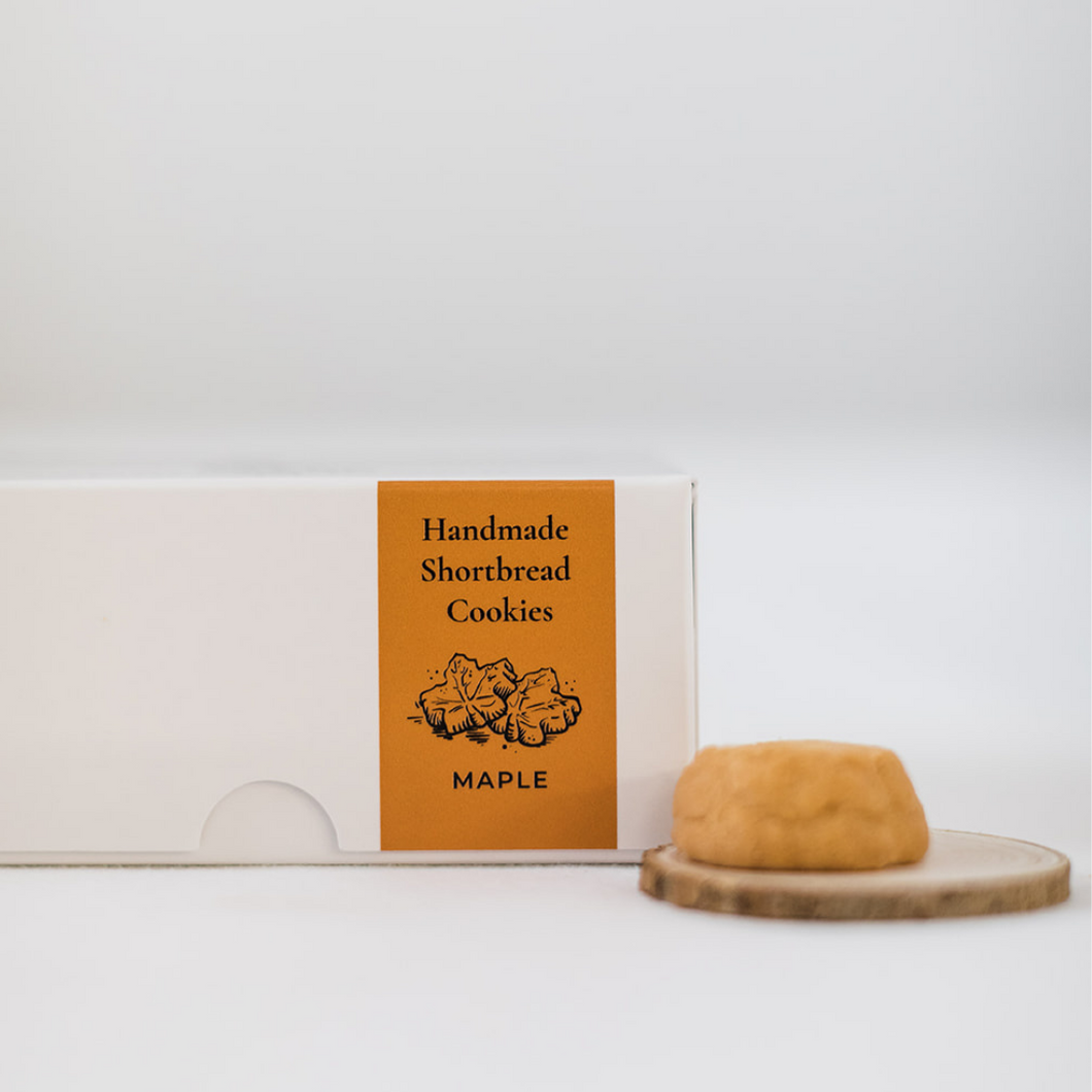 Mini Shortbread Cookies - Maple (Box)