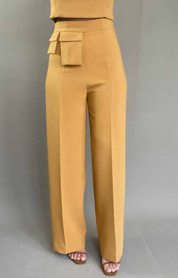 Pantalon Flare LA MARIANNE - PETITE Honey