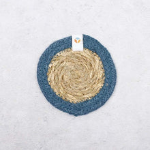 Load image into Gallery viewer, Seagrass + Jute Coaster (variety of colours) - Ecoanniepooh