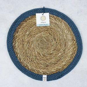 Seagrass + Jute Tablemat (variety of colours) - Ecoanniepooh