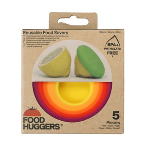 Reusable Silicone Food Huggers (set of 5 different sizes)