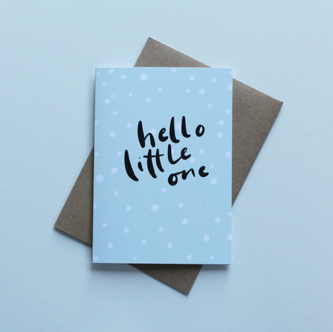 Hello Little One baby card - Ecoanniepooh