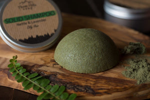 Solid Shampoo for Oily Hair – Nettle and Lavender.