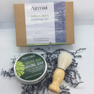 Airmid Green Man Wet Shaving Kit - Ecoanniepooh