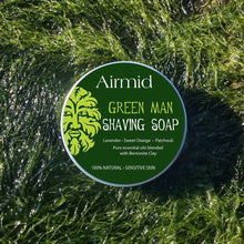 Load image into Gallery viewer, Airmid Green Man Wet Shaving Kit