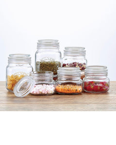Kilner square push top 6 jar set