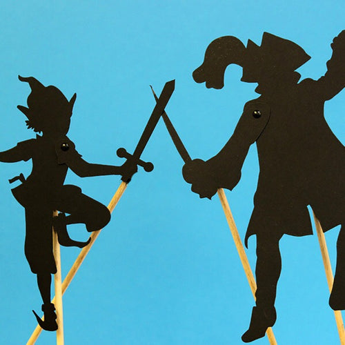 Shadow silhouettes Peter Pan