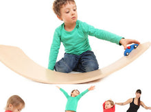 Load image into Gallery viewer, das.Brett Bouncy Wooden Balance Board in Natural - Ecoanniepooh