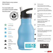 Load image into Gallery viewer, One Green Bottle 500ml Curvy Water bottle