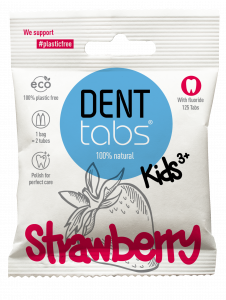 DENTTABS Strawberry toothpaste tablets For kids (125 tabs)