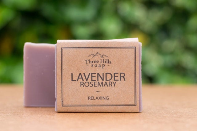 Lavender and Rosemary Three Hills Soap
