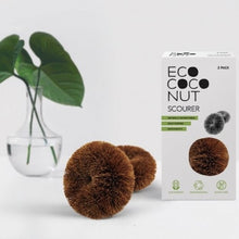 Load image into Gallery viewer, EcoCoconut Twin Pack Scourer - Ecoanniepooh