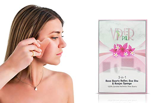 Facial Gua Sha Tool Natural Rose Quartz